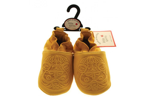 Embossed Deerskin Moccasin - Eagle Design